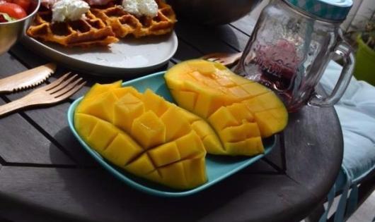 mangue brunch healthy recette